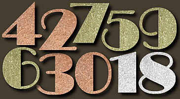 high society art deco metal house numbers. Black Bedroom Furniture Sets. Home Design Ideas